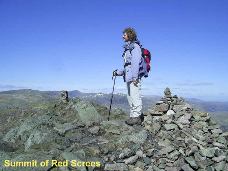 summit trig point of Red Screes